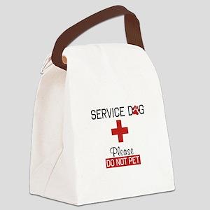 Service Dog Please Do Not Pet Canvas Lunch Bag