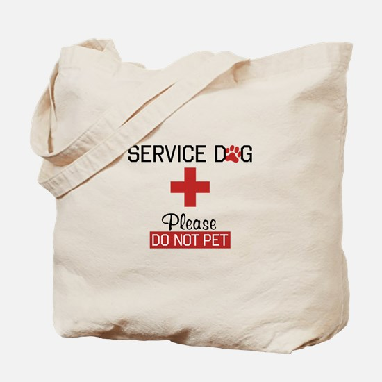 Service Dog Please Do Not Pet Tote Bag