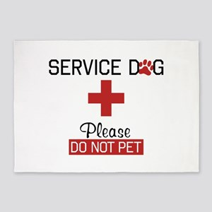 Service Dog Please Do Not Pet 5'x7'Area Rug