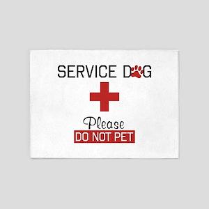 Service Dog Please Do Not Pet 5'x7'Area Rug