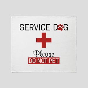 Service Dog Please Do Not Pet Throw Blanket