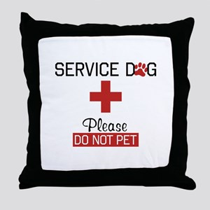 Service Dog Please Do Not Pet Throw Pillow
