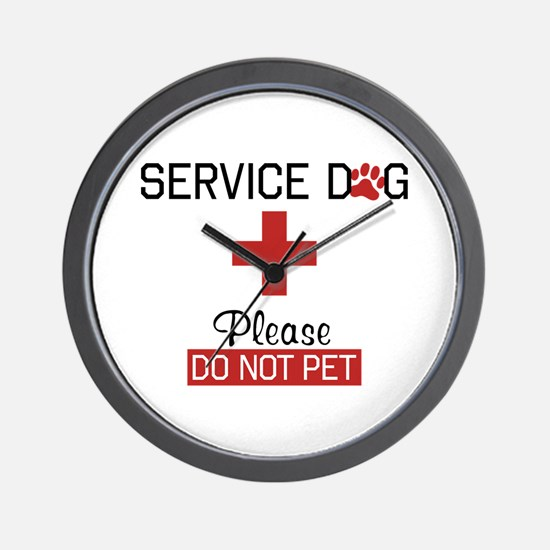 Service Dog Please Do Not Pet Wall Clock