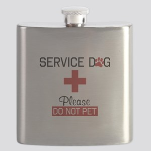 Service Dog Please Do Not Pet Flask