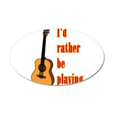 RatherBePlayingGtr Wall Decal