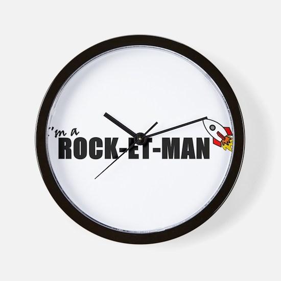 Im A Rock-et-man Wall Clock