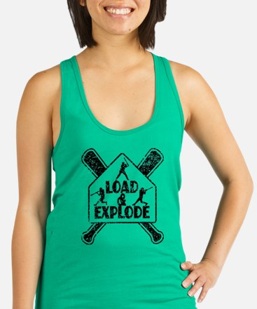 LOAD and EXPLODE! Racerback Tank Top