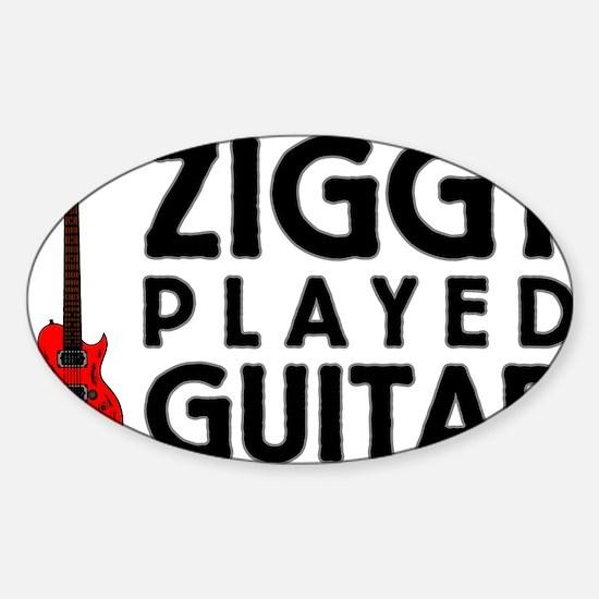 Ziggy Played Guitar Sticker (Oval)