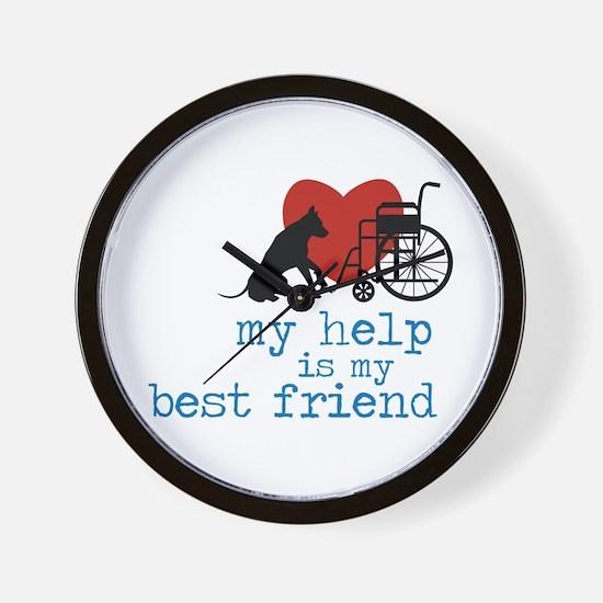 My Help Is My Best Friend Wall Clock