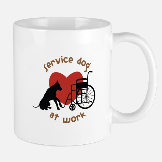 Service Dog At Work Mugs
