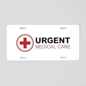 Urgent Medical Care Aluminum License Plate