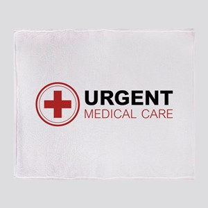 Urgent Medical Care Throw Blanket