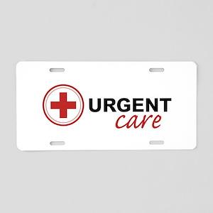Urgent Care Aluminum License Plate