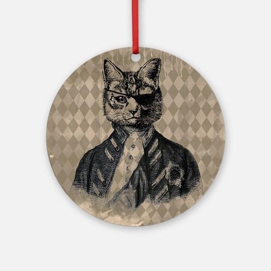Harlequin Cat Ornament (Round)