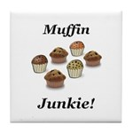 Muffin Junkie Tile Coaster