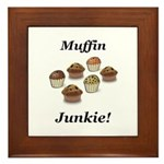Muffin Junkie Framed Tile