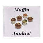 Muffin Junkie Throw Blanket