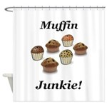 Muffin Junkie Shower Curtain