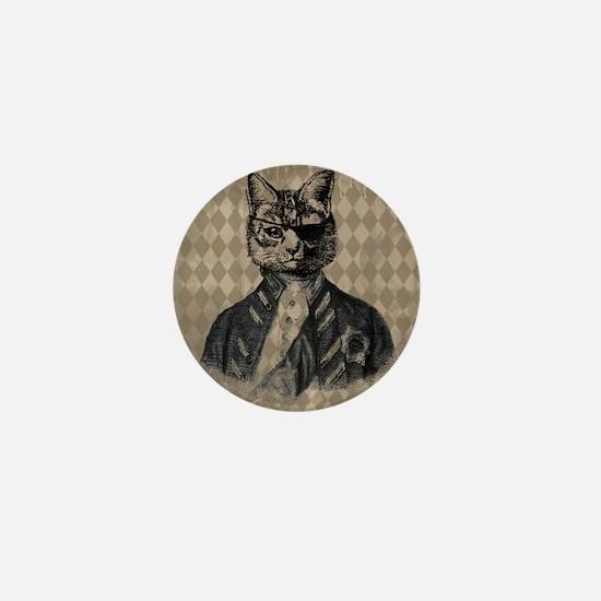Harlequin Cat Mini Button