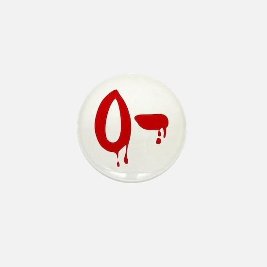 Blood Type O- Negative Mini Button