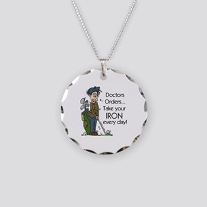 Golf Iron Every Day Necklace Circle Charm