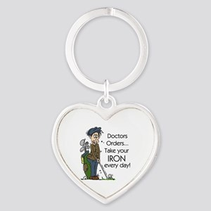 Golf Iron Every Day Heart Keychain
