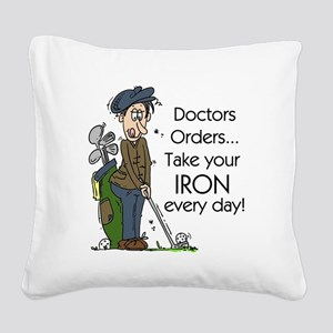 Golf Iron Every Day Square Canvas Pillow