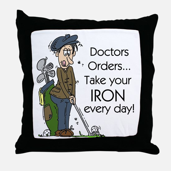 Golf Iron Every Day Throw Pillow