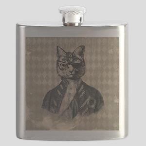 Harlequin Cat Flask