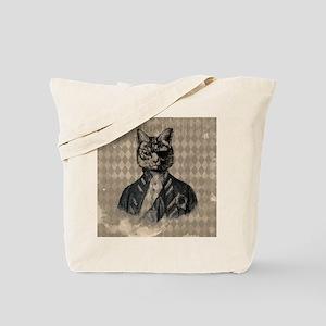 Harlequin Cat Tote Bag