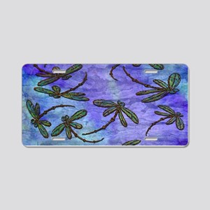 Dragonfly Flit Purple Haze Aluminum License Plate