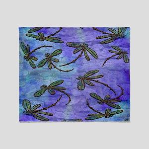 Dragonfly Flit Purple Haze Throw Blanket