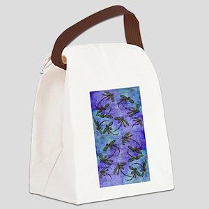 Dragonfly Flit Purple Haze Canvas Lunch Bag