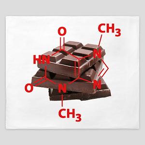Chocolate Chemistry King Duvet