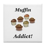 Muffin Addict Tile Coaster