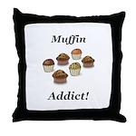 Muffin Addict Throw Pillow