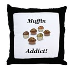 Muffin Addict Throw Pillow