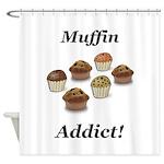 Muffin Addict Shower Curtain