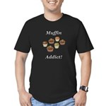 Muffin Addict Men's Fitted T-Shirt (dark)