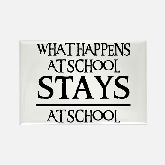 STAYS AT SCHOOL Rectangle Magnet (10 pack)
