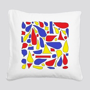 Silly Primaries Square Canvas Pillow