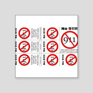 no-911_copyright Sticker