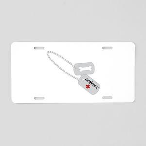 Service Aluminum License Plate