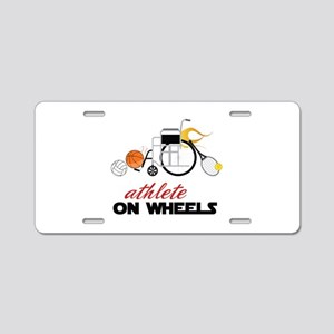 Athlete Aluminum License Plate
