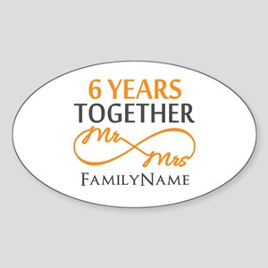 6th anniversary Sticker (Oval)