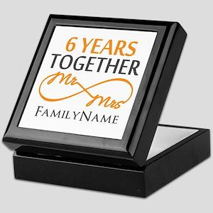 6th anniversary Keepsake Box