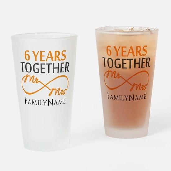 6th anniversary Drinking Glass