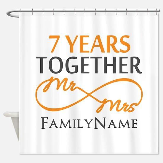 7th anniversary Shower Curtain