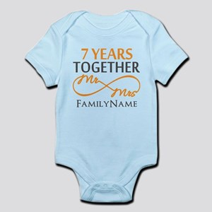 7th anniversary Infant Bodysuit