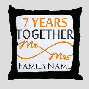 7th anniversary Throw Pillow